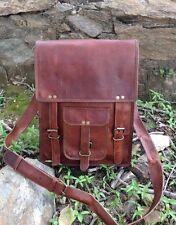 New Men & women Genuine Vintage Brown Leather Messenger Bag Shoulder Satchel