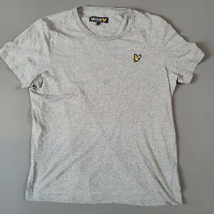 Lyle & Scott Classic Grey Short Sleeve Crew Neck T Shirt Size Large 100% Cotton