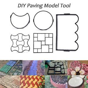 Garden Plastic Paving Mold DIY Cement Stone Walkway Path Maker Pavement Mou.ju