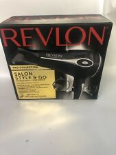Revlon 1875 Collection Style Retractable Cord Folding Handle Hair Dryer, Black