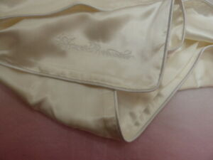 Agent Provocateur silk pillow case ivory white Glossy range NEW housewife
