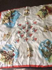 "Morsly 26"" Liberty Bell Scarf Philadelphia Vintage Acetate Made in Italy"