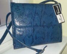 Tolle Neue Handtasche Tasche in ***blau *** Umhängetasche Made in Italy