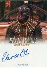 STAR TREK: DISCOVERY 2019 Season 1 Autograph Card!!! CHRIS OBI as T'Kuuma