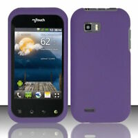 Purple LG myTouch Q C800 LGC800 Faceplate Snap-on Phone Hard Cover Case