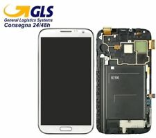 DISPLAY LCD +TOUCH SCREEN +FRAME per SAMSUNG GALAXY NOTE 2 GT-N7100 BIANCO VETRO