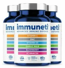 3 bottles Immuneti Nutrition Inc Advanced Defense Capsule 60 Count-With Vitamins
