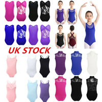 UK Girls Gymnastics Ballet Unitard Dance Leotards Sleeveless Performance Costume