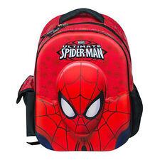 Marvel Amazing 3D Ultimate Spiderman Backpack School Rucksack Kids Junior Bag