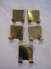 5 Mid-Century wardrobe hooks / coat hangers / austrian or danish / massive brass