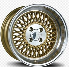 (1) Avid1 AV18 15X8 Rims 4x100 +25 Gold Wheel Rim