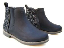 NEW GIRLS KIDS BLACK BROWN ZIP CHELSEA BOOTS FAUX LEATHER WINTER SCHOOL SHOES
