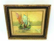 Oil Framed Nautical Art Paintings