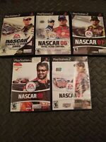 LOT: NASCAR 2005, 2006, 2007, 2008, 2009 GOOD FOR PS2 (PLAYSTATION 2)