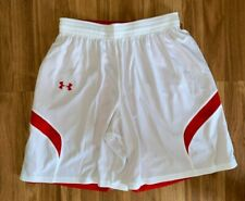 Men's Under Armour Reversible Two Sided Basketball Shorts Red White Size: Medium