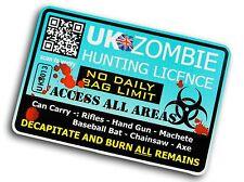 Funny Zombie Hunter Licence Design For Apocalypse Camper Van car truck sticker