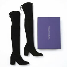 Stuart Weitzman Tieland Black Suede Over-The-Knee Boots - Size 10 M