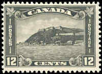 1930 Mint H Canada F+ Scott #174 12c King George V Arch/Leaf Stamp
