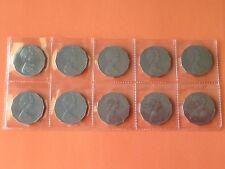 10 /1973 50 cent coins