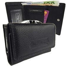 Portemonnaie Geldbörse Damen Geldbeutel Portmonee Leder Neu  5286  Schwarz