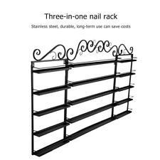 3PCS/Set 5 Layer Stainless Steel Nail Polish Shelf Shop Display Wall Rack Holder