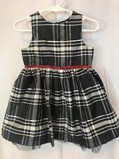 GENUINE KIDS FROM OSHKOSH Girls 18M Black/ White/ Silver - Red Sparkle Bow Dress