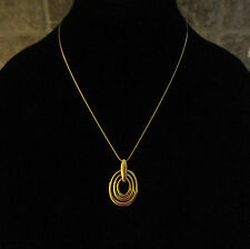 "Giani Bernini~24K Gold Sterling Silver~Triple Oval Pendant Necklace~18""`$250"