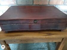 Oneida Ltd Mahogany Tone Flatware Anti-Tarnish Wooden Storage Box Chest