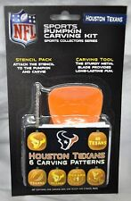 Houston Texans Halloween Pumpkin Carving Kit NEW! Stencils for Jack-o-latern