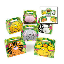 Zoo Animal Safari Jungle Birthday Party Favor Boxes Treat Gift Loot Set of 24