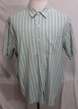 L.L. Bean Green/White & Blue Striped Seersucker Traditional Fit Men's XLarge
