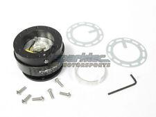 NRG Steering Wheel Quick Release Kit Gen 2.0 Black Body w/ Carbon Fiber Ring NEW