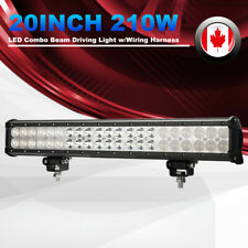 210W LED Work Light 20 Inch Light Bar Flood Spot Beam Auxiliary Driving Lights