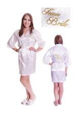 Equipo Novia Kimono Satén Seda Boda Dama De Honor bata