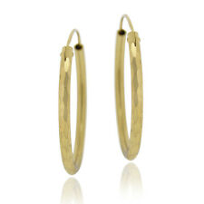 35mm Hammered Hoop Earrings in Gold Plated