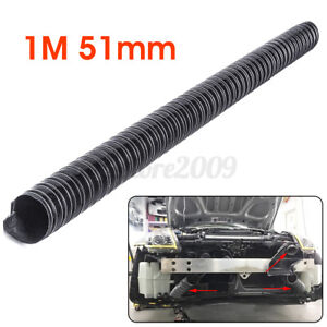 1M /3.3ft Black Air Ducting Pipe Flexible Hose Hot Cold Car Cooling