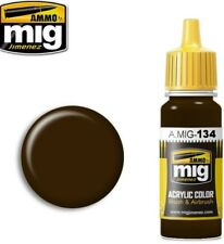 Ammo of Mig Jimenez Acrylic Color Brushes & Airbrush Burnt Brown Red 17ml #0134