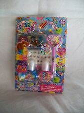 Lisa Frank Nail Polish Kit also includes polka dot tool, 24 decals, glitter  NIP