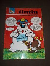 "MAGAZINE ""TINTIN, no 1022"" (1968) CUBITUS / MICHEL VAILLANT / CHEVALIER ARDENT"