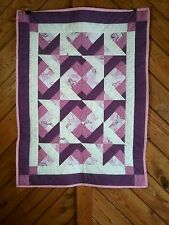 Pink/Purple Baby Blanket or Lap Quilt