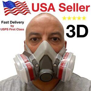 3D Half Face Respirator, LARGE, BRAND NEW, MAY 2020 STOCK, respirator paint