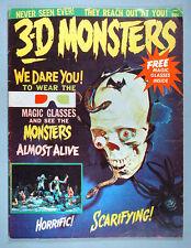 1964 3-D Monsters Magazine #1 Aurora Model Kit 3 Dimensional Photos w/Glasses