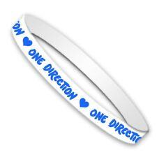 1D One Direction Harry Styles Gummy blanc bleu bracelet bracelet officiel
