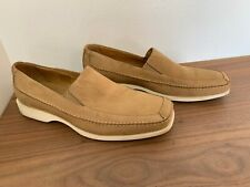 Via Spiga Tan Sand Suede Mens Loafer Slip On Shoes, Size 11M - Italy