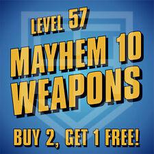 PS4 Borderlands 3 [MAYHEM 10 • LEVEL 57] WEAPONS Buy 2 Get 1 Free! M10 Guns BL3