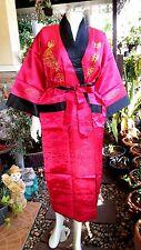 Asia Messieurs/Femmes Kimono JAPON/CHINE satin robe de chambre/peignoir rose/noir