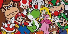 Super Mario 'Gang' Beach Bath Towel Cotton Kids Girls Gift Holiday