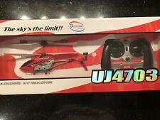 Yiboo UJ 4703 Mini Metal Gyroscope 3.5 Channel RC Remote Control Helicopter Red