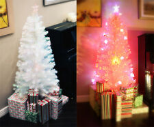 6 FT PRE-LIT MULTI COLOR LED & FIBER OPTIC CHRISTMAS TREE - BRIGHT WHITE TOPPER