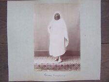 GRANDE PHOTO ANCIENNE 1890 FEMME TUNISIENNE